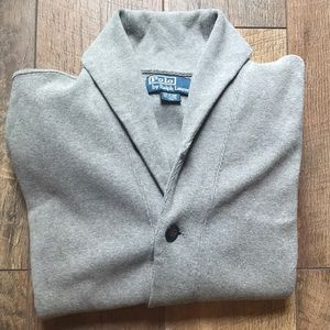 Ralph Lauren Cotton Shawl-Collar Cardigan - M